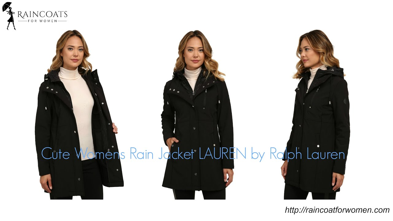 Cute Womens Rain Jacket LAUREN by Ralph Lauren - YouTube