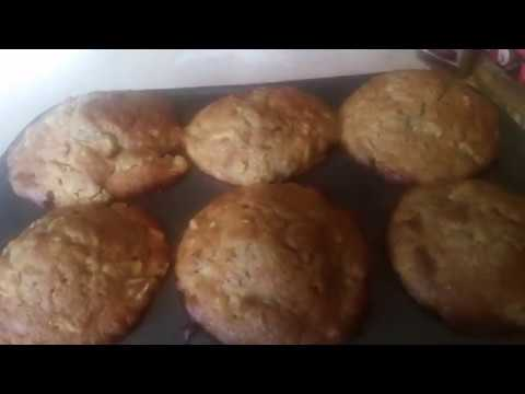 Fresh Apple Spice Walnuts Cake / Muffins With Powder Sugar On Top