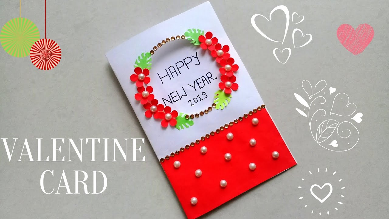 diy new year greeting cardhow to make new year card simple and easy new year card for kids
