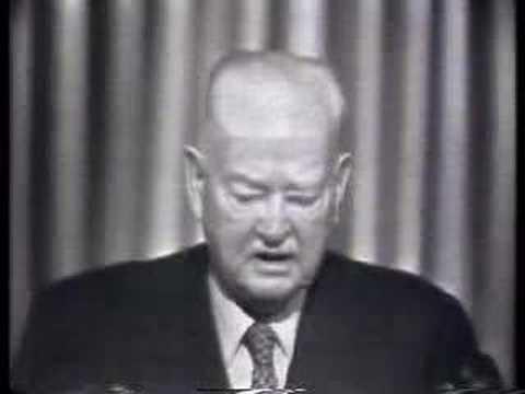 President Herbert Hoover on TV!  (1960)