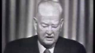 President Herbert Hoover on TV!  (1960)