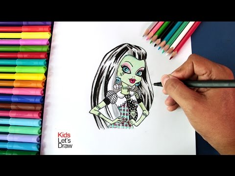 Cómo dibujar a FRANKIE de Monster High | How to draw Frankie Stein (Monster High)