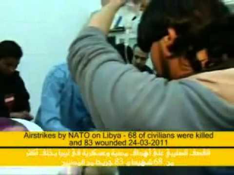 NATO Bombing civilians in Tripoli 24.03.11, NATO Crimes In Libya