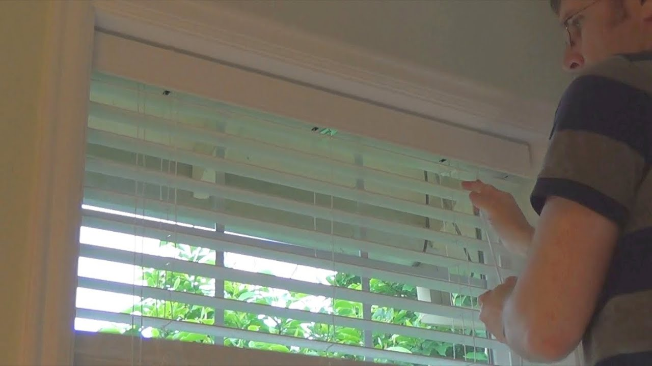 Basement Blinds How To Install Window Blinds