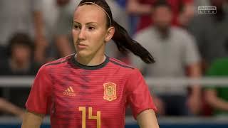 Coupe Du Monde Féminine 2019 Groupe B Espagne VS Afrique Du Sud 8 Juin 2019 Sur Fifa 19