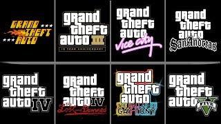 All Grand theft auto Intro LOGO animations (GTA LOGO from gta1-gta5)