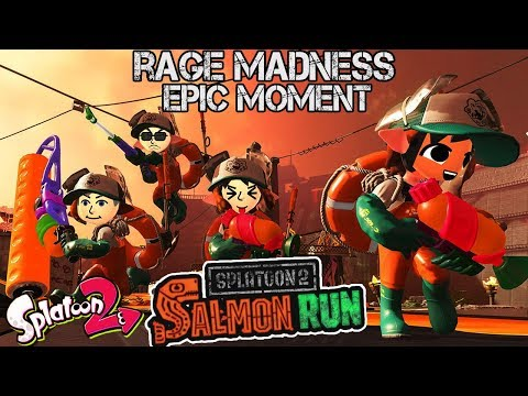 ABM: RAGE MADNESS!! EPIC MOMENT!! Splatoon 2 Salmon Run Match!! HD