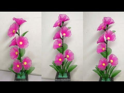 91 Ide Kreatif Cara Membuat Bunga Hias Di Ruang Tamu Dari Stoking Nylon Stocking Flower Making Youtube