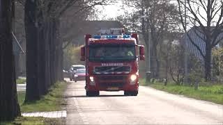 Uitruk brandweer pekela met spoed naar melding gaslek in meeden