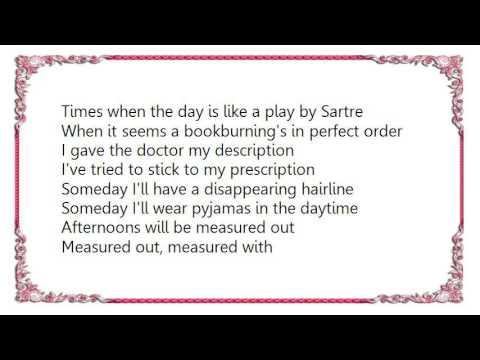 Crash Test Dummies - Afternoons and Coffeespoons Lyrics