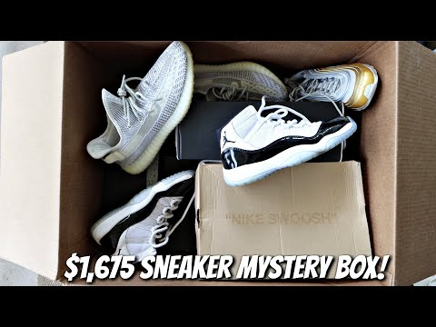 I Bought A $1675 Mystery Box of HYPE Sneakers! (Yeezys, OFF-WHITE, and RARE Jordans!)