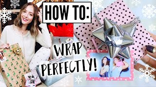 How To Wrap The PERFECT Christmas Present! Gift Wrapping Tips!
