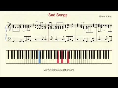 """How To Play Piano: Elton John """"Sad Songs"""" Piano Tutorial by Ramin Yousefi"""