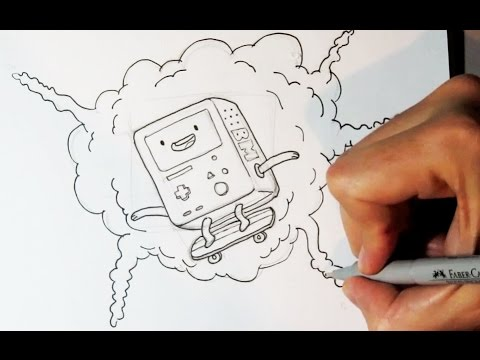 Cómo dibujar a BMO o Beemo de Hora de Aventura - Dibujos para Pintar ...