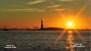 Statue of Liberty Sunset Timelaps