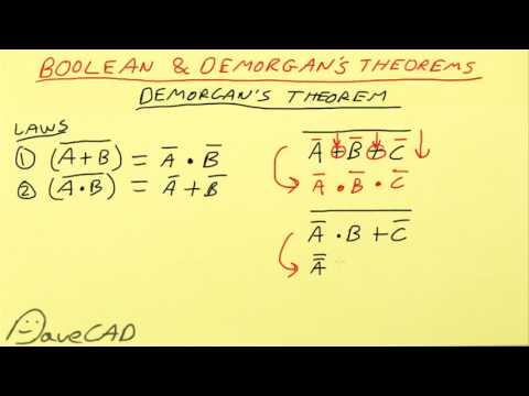 EEVacademy #2 - Digital Logic Boolean & Demorgan's Theorems
