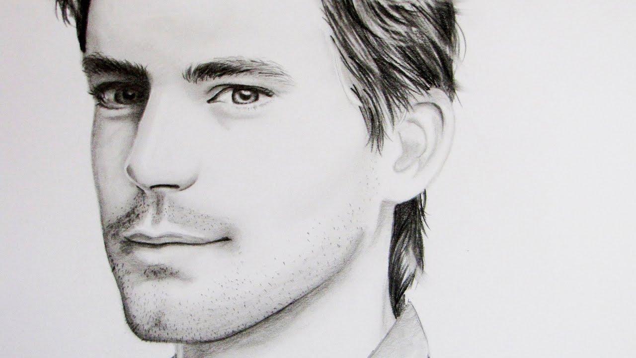 Matt Bomer Speed Drawing - YouTube