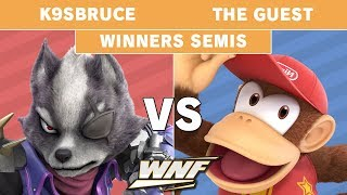 WNF 1.1 - K9sBruce (Wolf) vs The Guest (Diddy Kong) Winners Semis - Smash Ultimate
