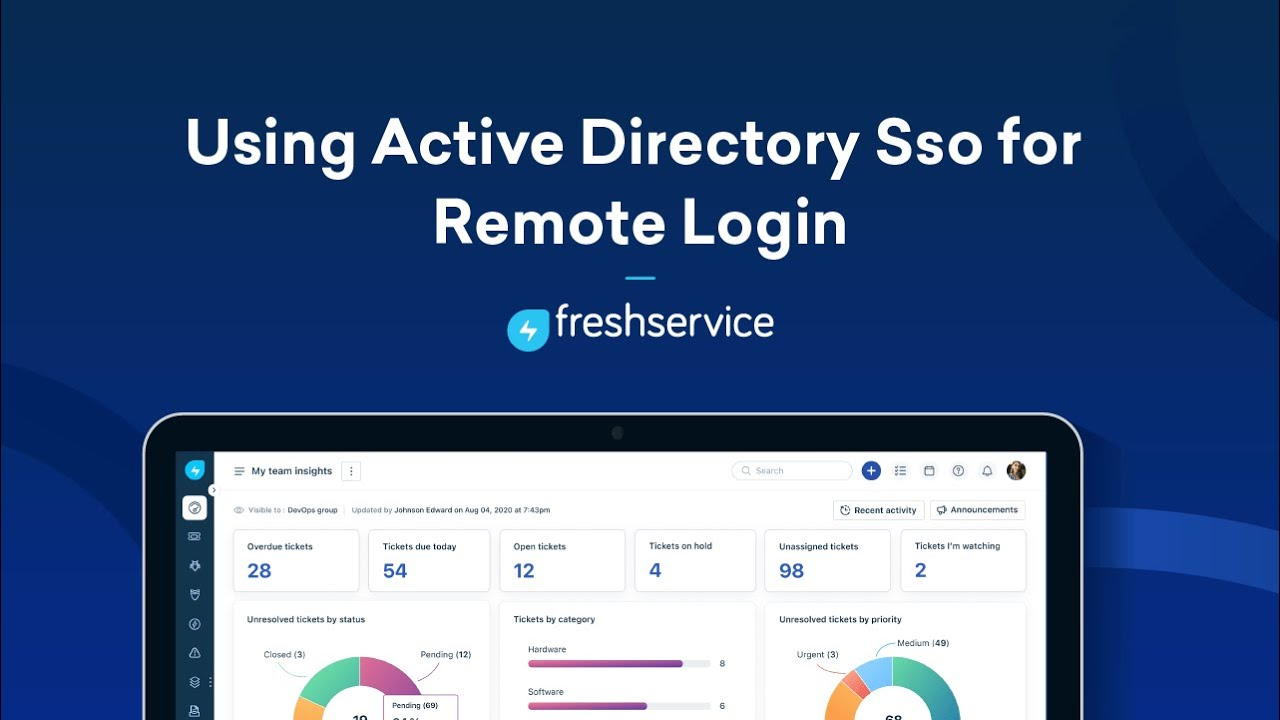 Remote authentication of users using Active Directory | Freshservice