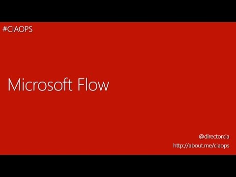 An introduction to Microsoft Flow