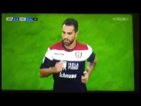 Serie A - Juventus-Cagliari 4-0, la smorfia di Di Gennaro
