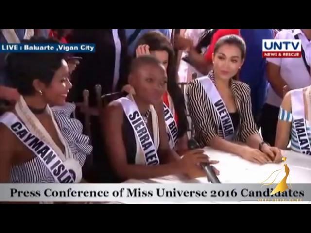 Miss Universe Vietnam Lệ Hằng tham dự Họp báo Miss Universe 2016 tại Vigan City, Philippines