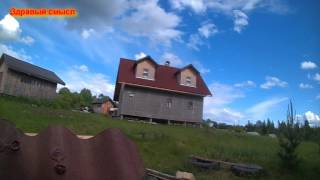 видео Как крепить Ондулин на крышу: выбор гвоздей, схема забивания