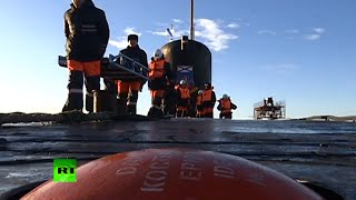 Bulava Test: First footage inside nuclear submarine launching missile