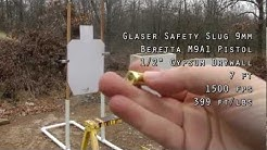 Glaser Silver Safety Slug 9mm Gel Test