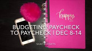 Budgeting Paycheck To Paycheck | 12/8-12/14 | Happy Planner Budget Extension Pack