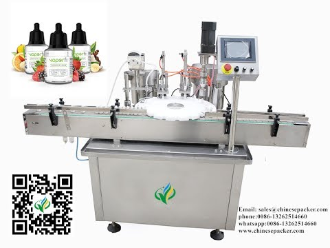 automatic Electronic cigarette liquid filler & stopper capper E juice filling production line