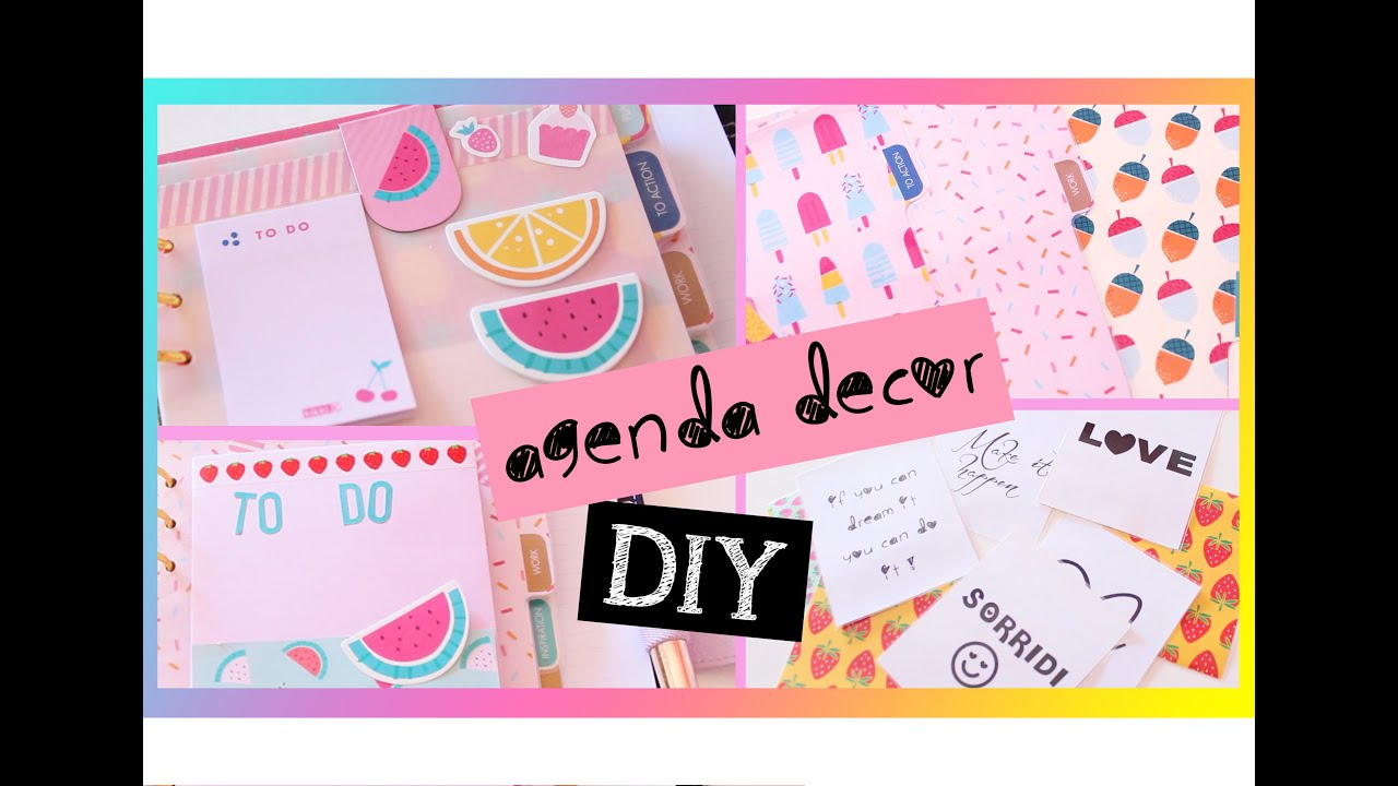 Conosciuto Plan with me DIY: idee per decorare l'agenda ♥ - YouTube FB56