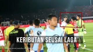 Keributan diakhir Laga Bali United VS Persib Bandung