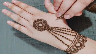 Latest Beautiful and Simple Mehndi Design | Easy Flower Jewellery Mehndi Design for Hand