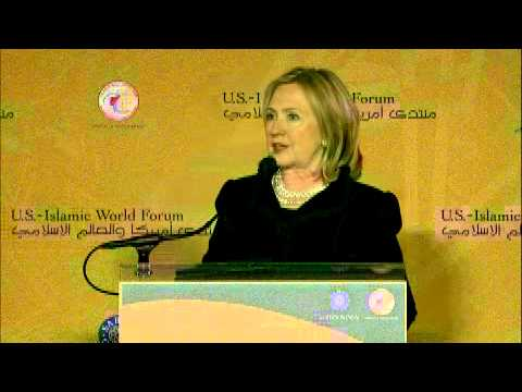 Hillary Clinton Addresses the 2011 U.S.-Islamic World Forum (Arabic)