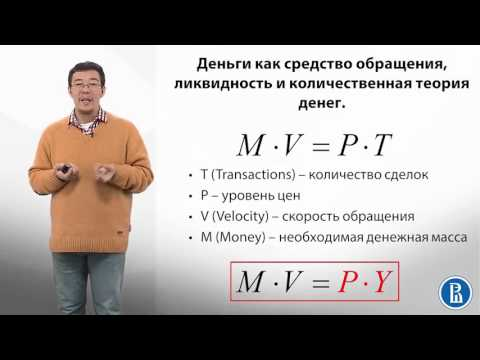 9.6 Количественная теория денег  Монетизация экономики