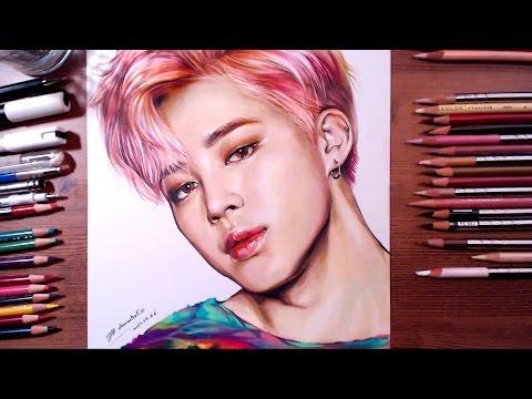 BTS : Jimin - colored pencil drawing | drawholic
