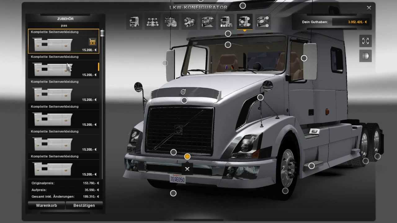 euro turk simulator 2 mods volvo 780