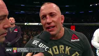 UFC 217 Georges St Pierre and Michael Bisping Octagon Interviews
