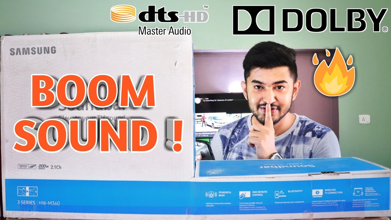 Samsung HW M360 Wireless Soundbar Review | Best Home Theater Speakers/Soundbar| With Dolby & DTS