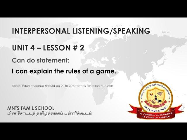 UNIT 4 Lesson 2 Interpersonal Listening-Speaking