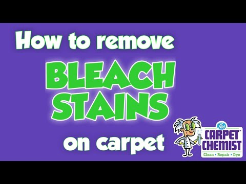 So the correct term is actually bleach spot. But who cares, really? you came to our website because we know how to repair bleach spots on carpet.