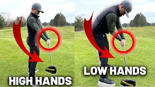 Crazy Simple Low Hands Feel To Hit Irons \u0026 Driver Consistently Longer