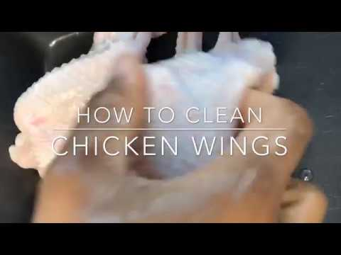 HOW TO WASH AND CLEAN CHICKEN WINGS FOR FRYING, GRILLING, BAKING ETC || TERRI-ANN'S KITCHEN