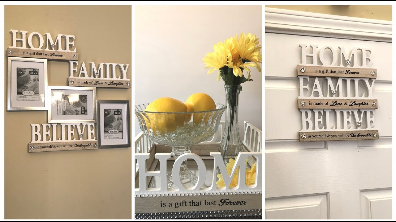 Dollar Tree DIY || Home Decor Ideas || Farmhouse Glam ...