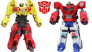 Transformers Robots Combiner Force Optimus Prime Strongarm, Primestrong, Sideswipe Bumblebee Beeside