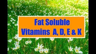 Fat soluble vitamin A ,D ,E, K