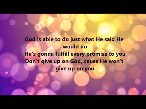 Deitrick Haddon - He's Able (Lyrics)