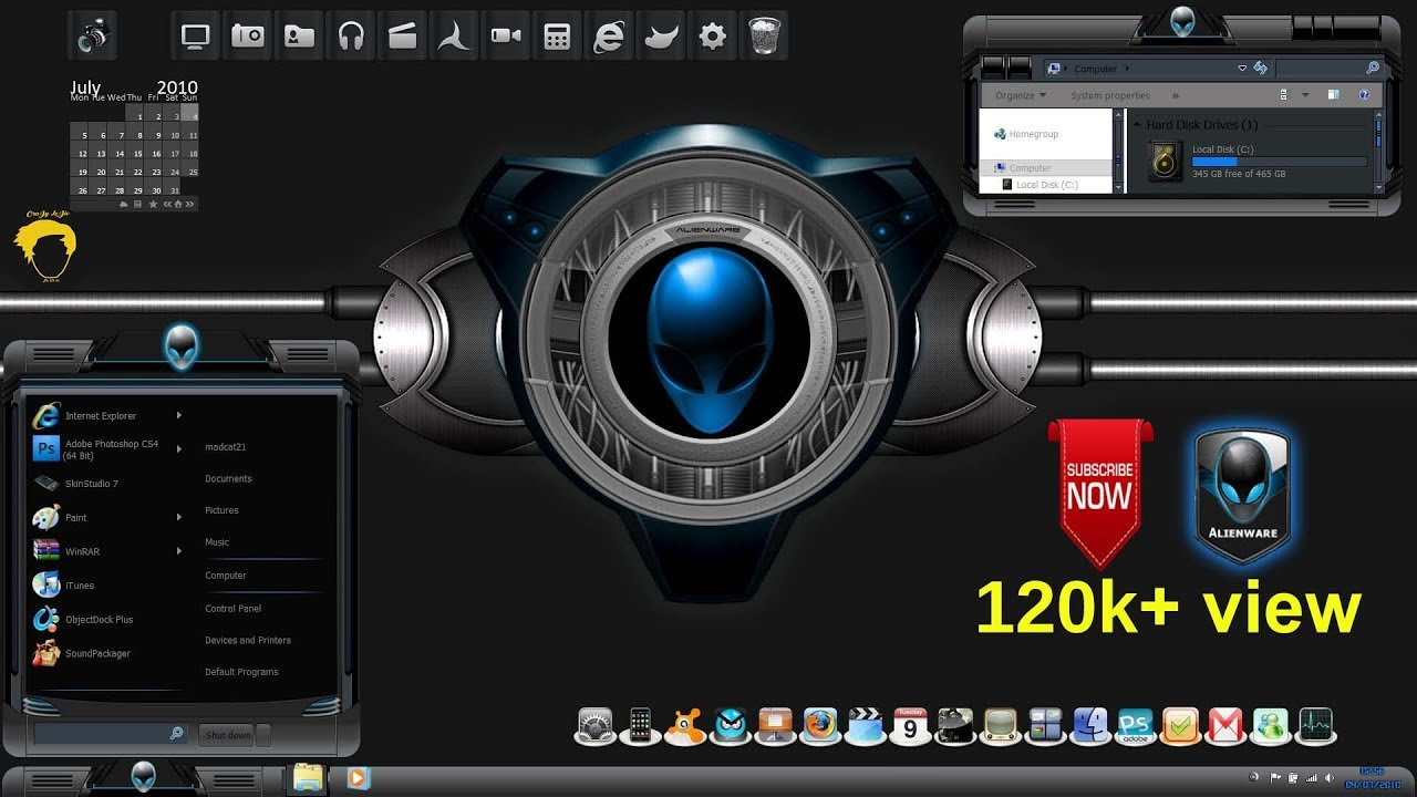 skins alienware para windows 7