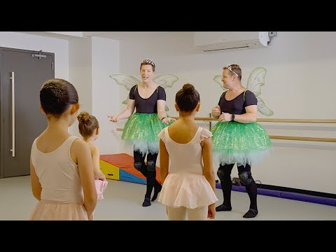 Sean Hayes & Scott Icenogle Teach Ballet To Kids (PLUM Video)
